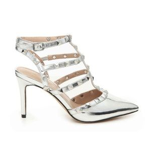 548f7b74b54 Mix No. 6 Shoes - Mix No. 6 Liraven Silver Cage Studded Pumps NWB